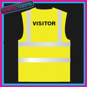 VISITOR ON SITE  HI VIZ VEST ADULTS SIZES